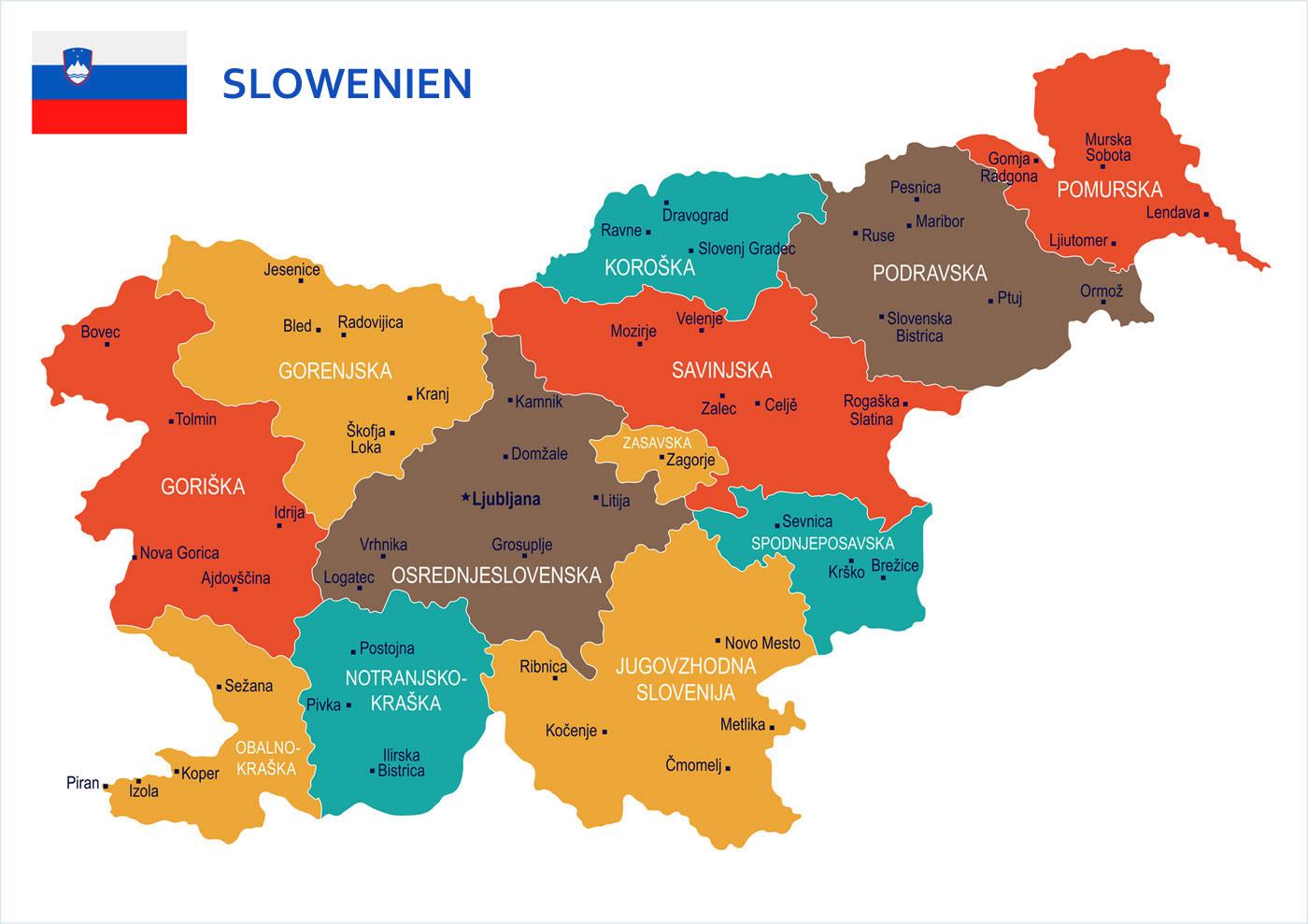 Slowenien Karte Ferienhaus Slowenien
